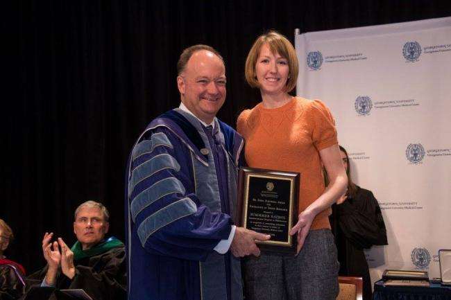 Summer Kathol receives the Dr Zofia Zukowska Award for Excellence in Thesis Research