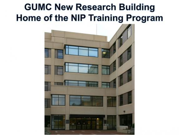 GUMC New Research  Building. Home of the NIP Training Program